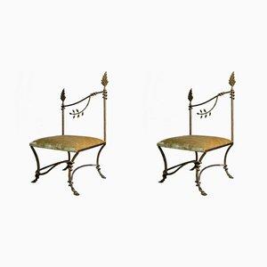 Esszimmerstühle von Emilio Robba für Emilio Robba, 1980er, 2er Set