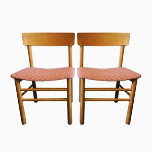 Vintage Elm Model J39 Side Chairs by Børge Mogensen for Farstrup Møbler, 1950s, Set of 2