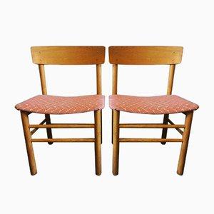 Vintage Modell J39 Beistellstühle aus Ulmenholz von Børge Mogensen für Farstrup Møbler, 1950er, 2er Set