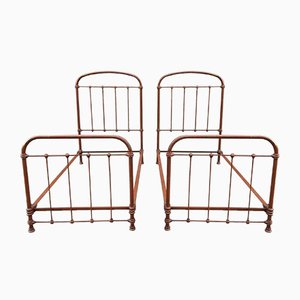 French Iron Beds, 1920s, Set of 2