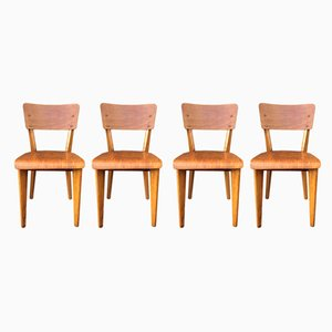 French Bistro Chairs, 1950s, Set of 4