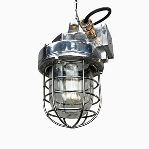Vintage Korean Industrial Cast Aluminum Ceiling Lamp