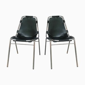 Mid-Century Black Side Chairs by Charlotte Perriand for Cassina, Set of 2