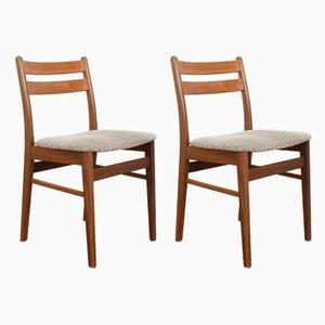 Chaises de Salle à Manger en Teck, 1960s, Set de 2