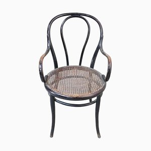 Antique Beech Lounge Chair from Thonet