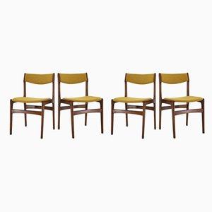 Dänische Esszimmerstühle aus Teak, 1960er, 4er Set