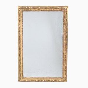 Antiker dekorativer französischer Spiegel mit vergoldetem Rahmen