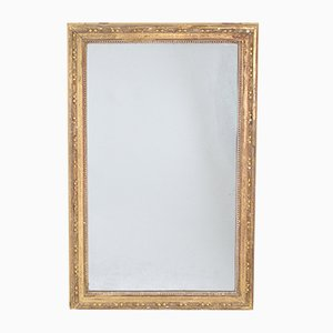 Espejo francés antiguo decorativo de madera dorada
