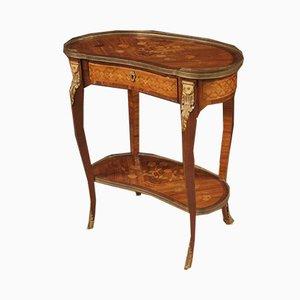 Table d'Appoint Antique en Palissandre Incrusté, France