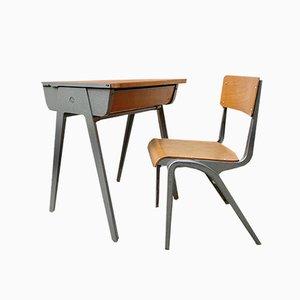 Bureau et Chaise pour Enfant par James Leonard pour Esavian, 1950s