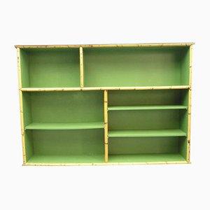 Deutsches Vintage Bücherregal aus Rattan & Bambus von Arco