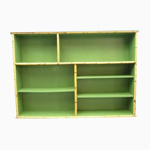 Vintage German Rattan and Bamboo Bookshelf from Arco