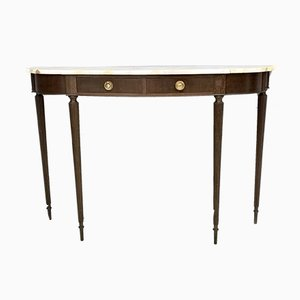 Ebonized Beech & Marble Console Table, 1950s