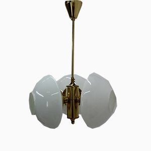 Lámpara de araña Mid-Century de Jablonecke Sklarne, años 70