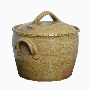 Cubitera Mid-Century grande de gres de Guernsey Pottery, años 50