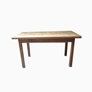Rustic Solid Wood Farm Table, 1950s