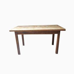 Rustikaler Landhaustisch aus massivem Holz, 1950er