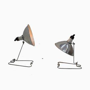 Industrielle Wandlampen, 1960er, 2er Set