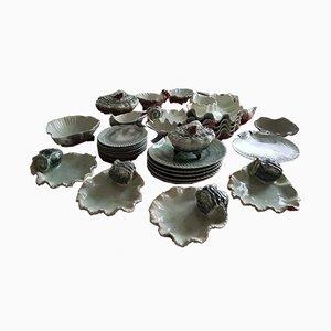 Keramik Speiseservice in Austernform für 6 Personen by Pinheiro, 1990er