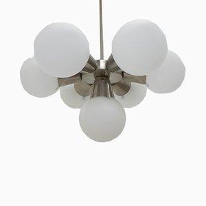 Lámpara de araña Sputnik Mid-Century de Kamenický Šenov, años 60