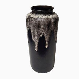 Vase de Plancher Cylindrique Fat Lava de Bay Keramik, 1960s