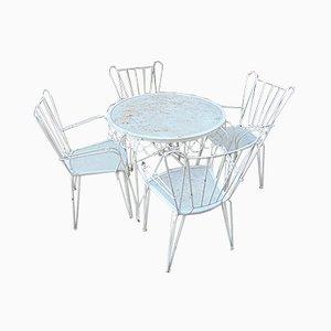 Mid-Century Gartenstühle & Tisch Set, 1950er