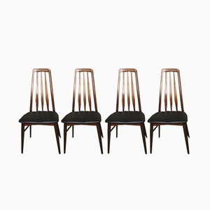 Model Eva Dining Chairs by Niels Koefoed, 1960s, Set of 4