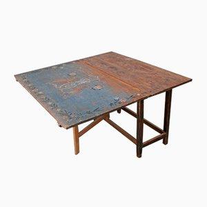 Mesa de comedor plegable antigua, década de 1700