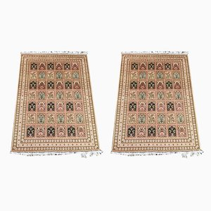 Vintage Afghan Woolen Carpets, 1990s, Set of 2