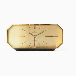 Vintage Brass Clock from Junghans, 1970s