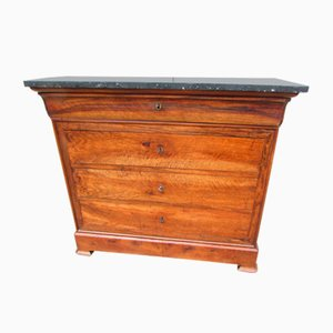 Antique Walnut and Anthracite Marble Dresser