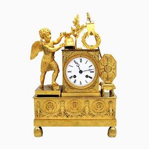 Antique Empire Bronze Clock