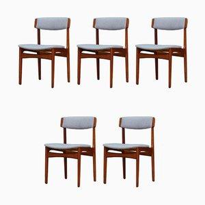 Chaises de Salle à Manger Vintage en Teck par N. & K. Bundgaard Rasmussen pour T.S.M Manufactory, Set de 5