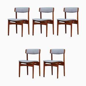 Vintage Teak Dining Chairs by N. & K. Bundgaard Rasmussen for T.S.M Manufactory, Set of 5
