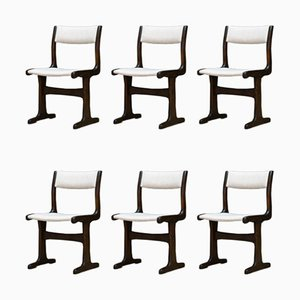 Vintage Danish Beech Dining Chairs, Set of 6