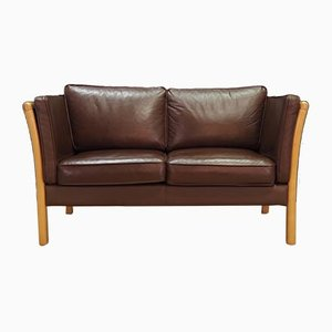 Vintage Leather Sofa from Stouby