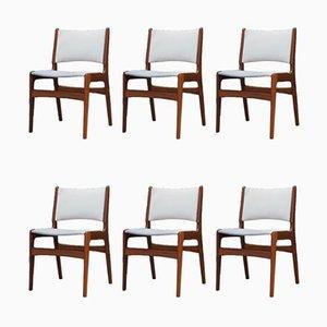 Mid-Century Esszimmerstühle aus Teak von Henning Kjaernulf, 6er Set