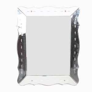 Mid-Century French Beveled Mirror, 1950s