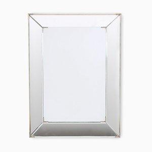 Espejo francés Mid-Century de vidrio biselado, años 60