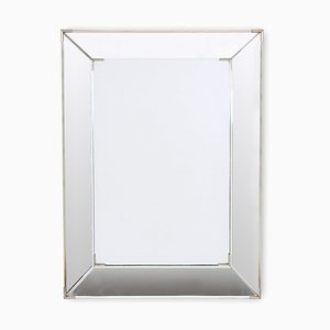 Mid-Century French Beveled Glass Mirror, 1960s