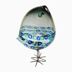 Scultura a forma di uccello in vetro di Vistosi, anni '60
