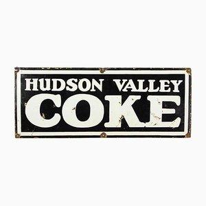 Emailliertes Schild von Hudson Valley Cola, 1920er