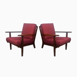 Danish Model GE-88 Teak Easy Chairs by Pedersen,Aage for Getama, 1960s, Set of 2