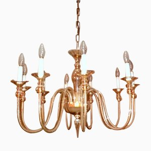 Lámpara de techo vintage de cristal de Murano