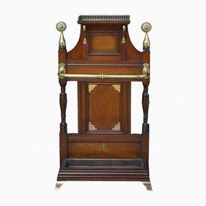 Mueble de recibidor victoriano antiguo de caoba