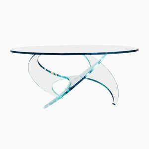 Glass Coffee Table by Knut Hesterberg for Ronald Schmitt, 1970s