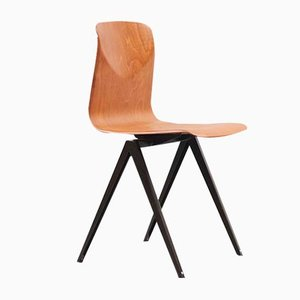 Mid-Century Model S19 Oak Dining Chair from Galvanitas