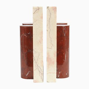 Art Deco Marble Bookends, 1950s, Set of 2