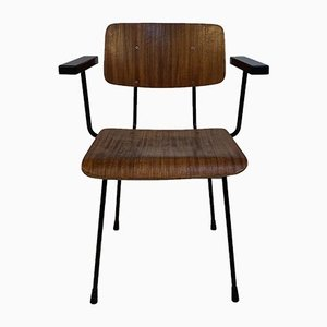 Silla de escritorio de madera de André Cordemeyer / Dick Cordemeijer, años 60