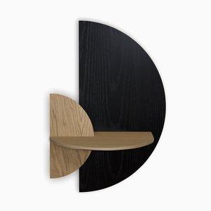 Table de Chevet en Demi-Cercle Alba L par Daniel García Sánchez pour Woodendot